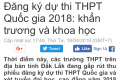 Đăng ký dự thi THPT quốc gia 2018: Khẩn trương và khoa học